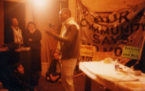 Lavie Raven speaking at the  Department of Space and Land Reclamation (2001)