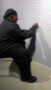 Anthony Holmes at CTJM exhibit, Sullival Galleries, Fall 2012