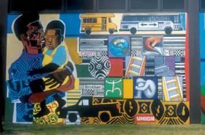 Urban World at the Crossroads, 1997, acrylic on brick, by Bernard Williams and John Pitman Weber. (Photo: CPAG)