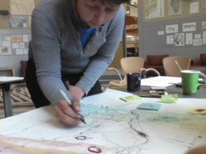 Compass mapmaking workshop in Carbondale, IL (2012)