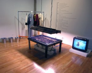 "Nance Klehm, ""Collection Suit/Dispersal Suits,"" 2005 in ""Urban, Rural, Wild,"" September 9 – October 22, 2005, I space Gallery, Chicago. Sarah Kanouse and Nicholas Brown, curators,"