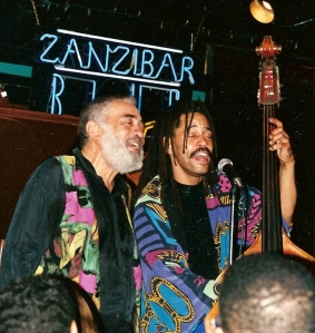 "Oscar Brown, Jr. and Oscar (""Bo"") Brown III at Zanzibar Blue, 1996"