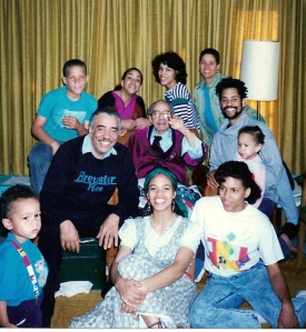 Brown Family with Oscar Brown, Jr. around 1990