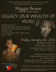 LEGACY at I House Flyer