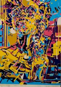 Nelson Stevens, Imami Impulse, silkscreen, 1974.