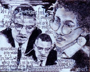 Arlene Turner-Crawford, Malcolm and Me, Collage, 2001.