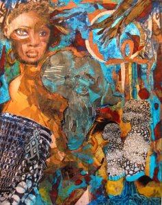 Arlene Turner-Crawford, Meditation on Race and Women, collage, 2008