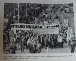 Vietnam War Protest with Dr. Martin Luther King Jr. in Chicago